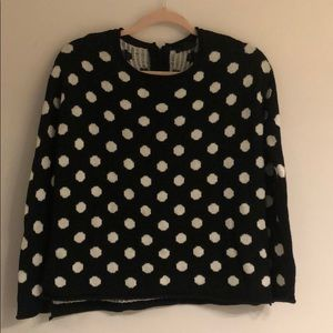 H&M black and white polka dot sweater